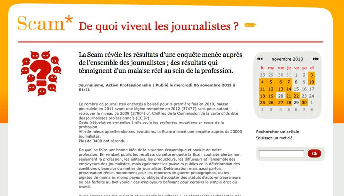 De quoi vivent les journalistes ? L'enquête de la Scam