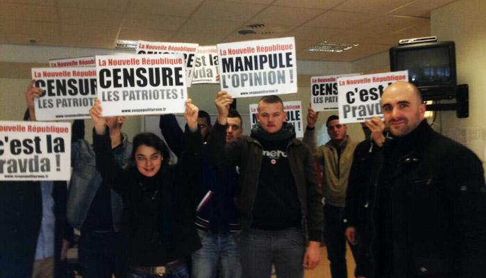 Vox Populi envahit les locaux de La Nouvelle République à Tours