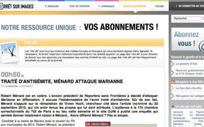 L'Ojim et Claude Chollet cités par Arrêt sur images