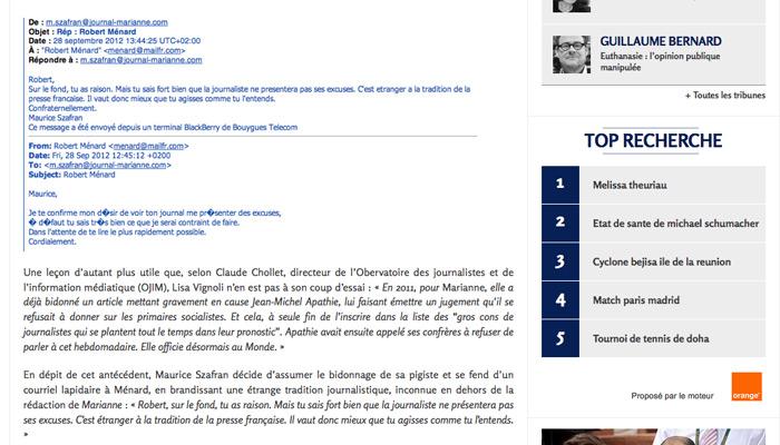 L'Ojim et Claude Chollet cités dans Valeurs Actuelles