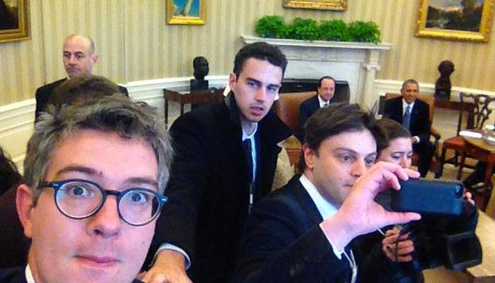 Les journalistes français se comportent en touristes à la Maison Blanche