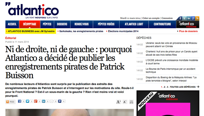 Atlantico va attaquer Valeurs Actuelles et Slate