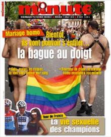 « Mariage homo : bientôt ils vont pouvoir s'enfiler... la bague au doigt. »