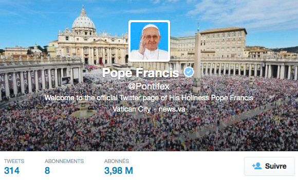 Twitter @pontifex