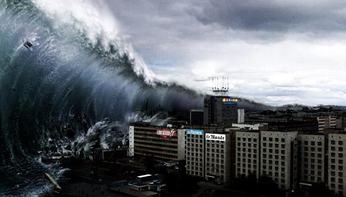 Européennes : avis de catastrophe naturelle dans la presse française