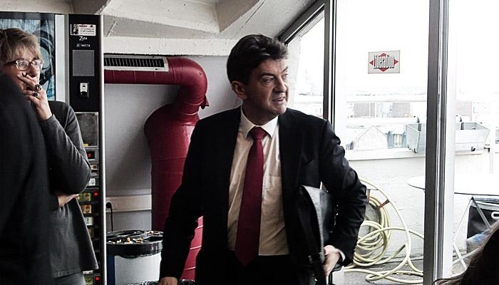 Jean-Luc Mélenchon veut surveiller les journalistes du Monde et de Libé
