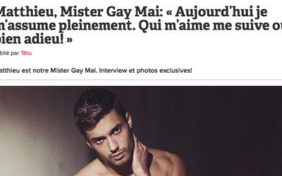 Têtu indigné : « Mister Gay » voteFN!