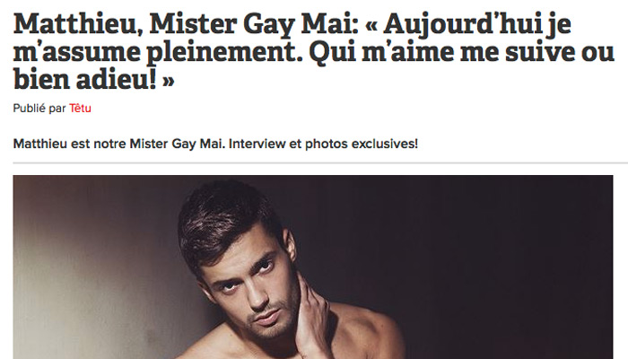 Têtu indigné : « Mister Gay » vote FN !
