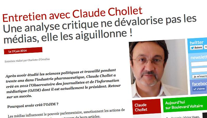 Claude Chollet (Ojim) sur Boulevard Voltaire