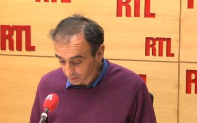 Zemmour : RTL « fermement mise en garde » par leCSA