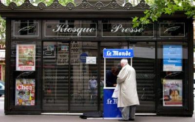 Le chiffre d'affaires global de la presse française en baisse