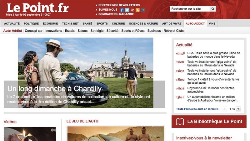 Flash info : Le Point ferme son site dédié à l'automobile
