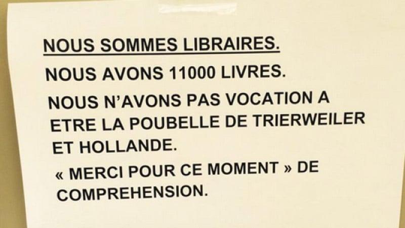 Trierweiller/Hollande : les libraires se rebiffent