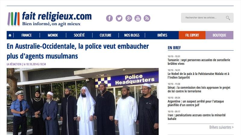 Flash info : Fait-religieux.com muscle sa rédaction