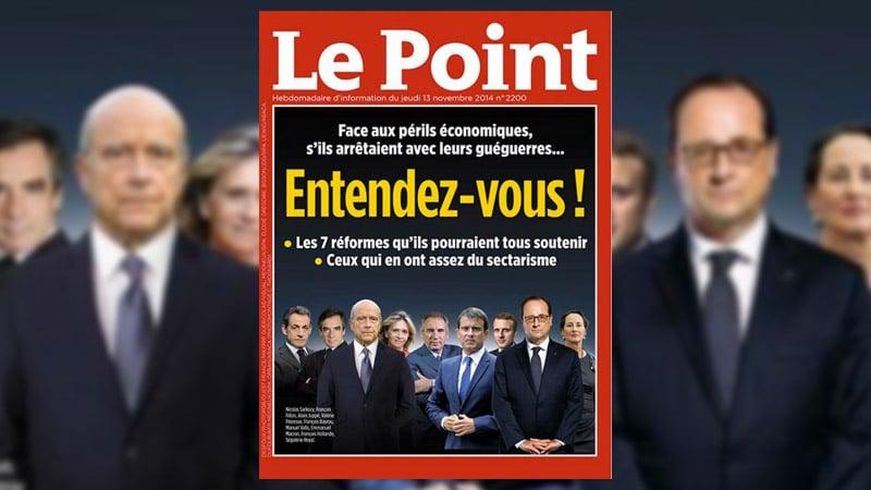 2017 : Le Point prend partie pour Juppé et Hollande
