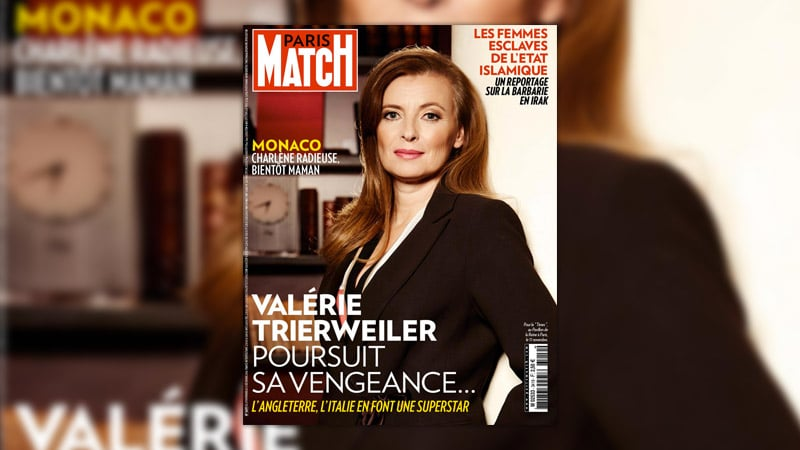 Trierweiler en une de Paris Match, le journal qui l'emploie