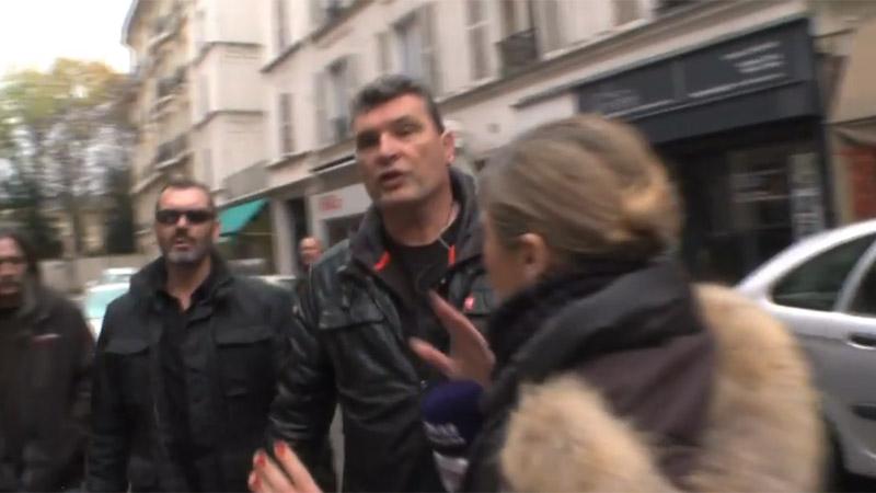 Une journaliste de France 5 bousculée par le service d'ordre de la CGT