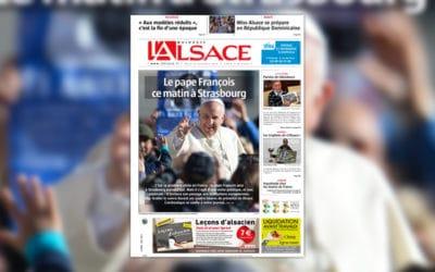 Le journal L'Alsace imprimé en Allemagne