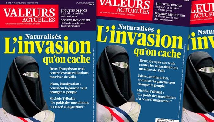 Valeurs Actuelles poursuivi pour provocation à la haine envers les musulmans