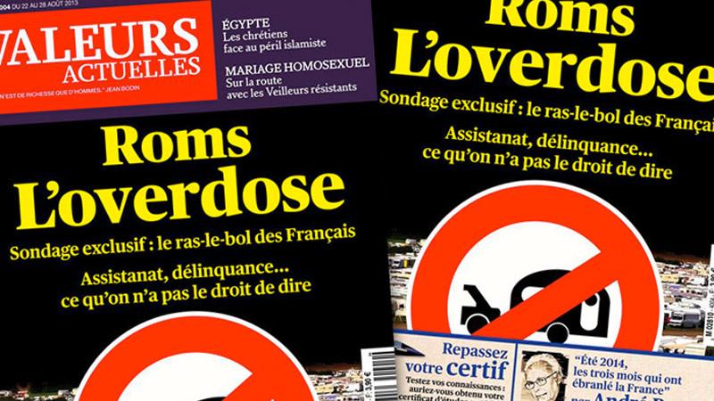 « Roms, l'overdose » : Valeurs Actuelles condamné