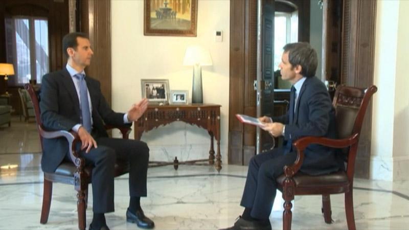 L'entretien d'Assad sur France 2 scandalise la gauche