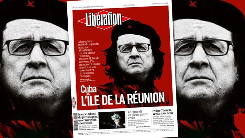 Hollande en Che Guevara : la une de Libé agace l