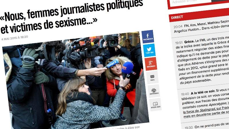Des journalistes signent une tribune contre le « sexisme » des politiques
