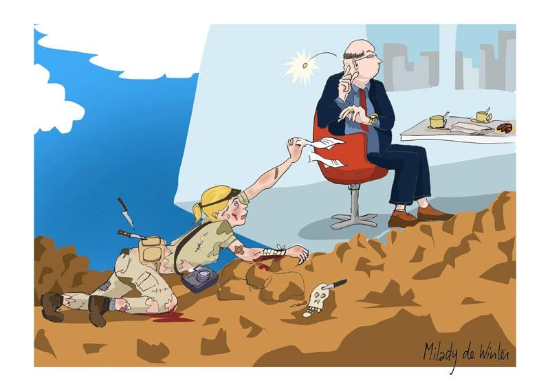Correspondante de guerre pour 800 euros par mois