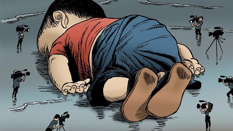 Le Monde, les photos et l'invasion migratoire