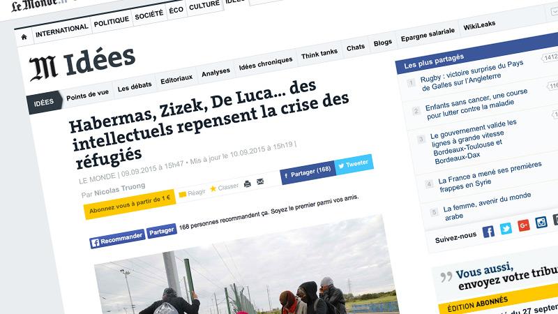 Le soutien de l'invasion migratoire et « Le Monde »
