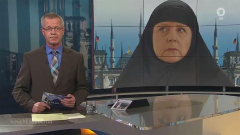 Merkel en burqa : scandale en Allemagne