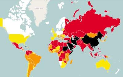 La liberté de la presse s'effondre dans le monde selonRSF