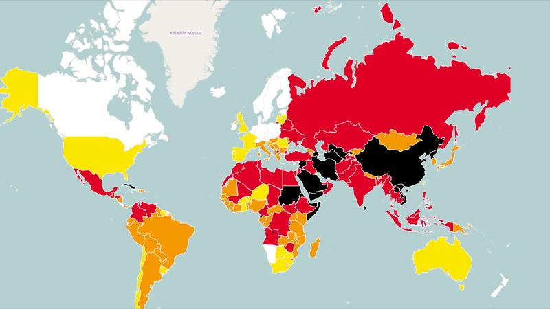 La liberté de la presse s'effondre dans le monde selon RSF