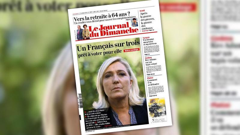 Colère de Lagardère après la une du JDD sur Marine Le Pen