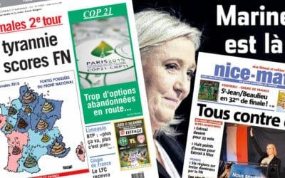 FN en tête aux élections : quand la presse régionale selâche