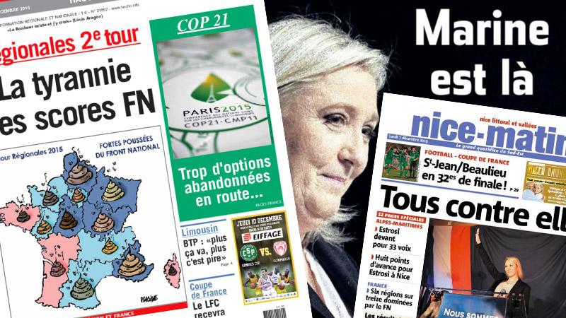 FN en tête aux élections : quand la presse régionale se lâche