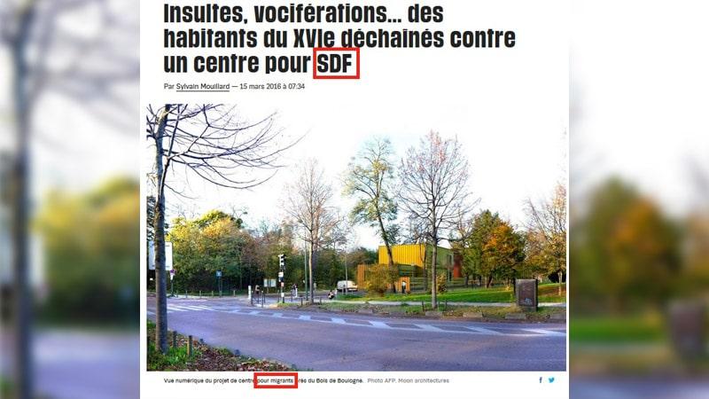 Centre d'hébergement du 16ème arrondissement de Paris : quand Libé vend la mèche…