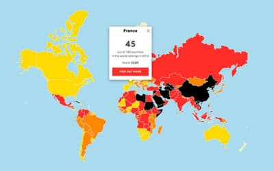 La France perd 7 places au classement de Reporters sans frontières