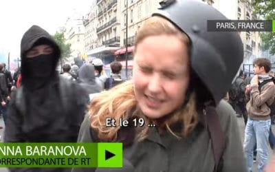 Des journalistes de RT agressés en marge de la manifestation contre la loi Travail