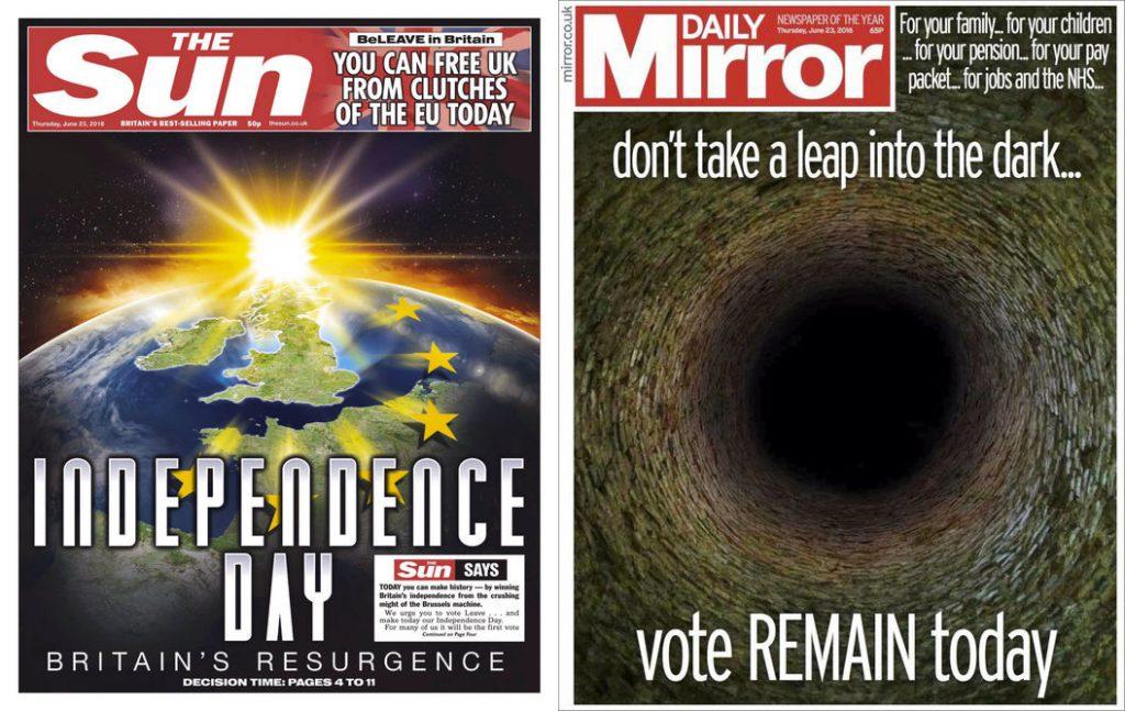 Une presse à l'image du pays : divisée.