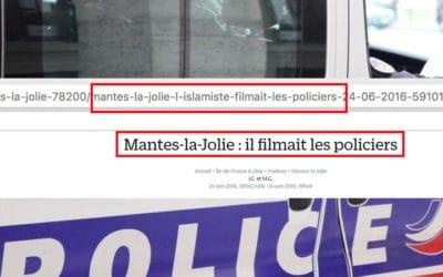 Pas d'amalgame : Le Parisien change sontitre