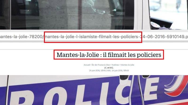 Pas d'amalgame : Le Parisien change son titre