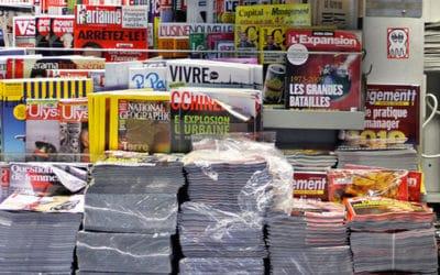 Vol massif de journaux àParis