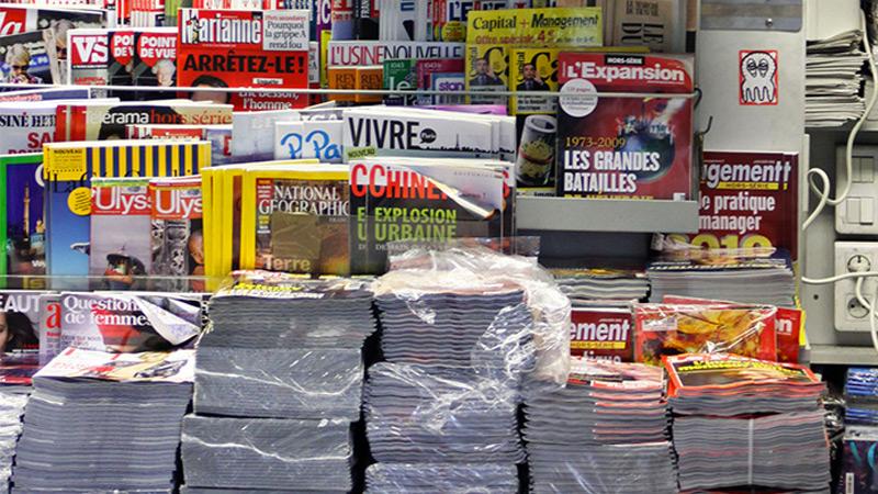 Vol massif de journaux à Paris