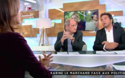Quand Karine Le Marchand donne une leçon de journalisme à Patrick Cohen
