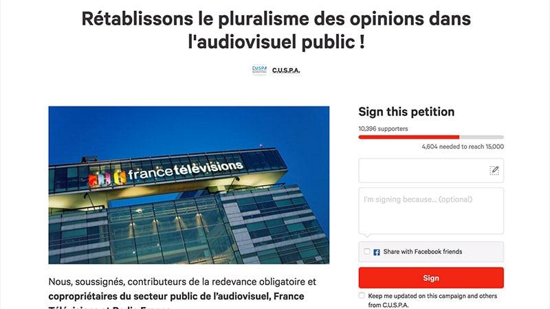 La pétition du Collectif des usagers des médias financés par la redevance connaît un vif succès