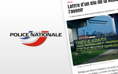Affaire Théo : La police s'indigne de la tribune des artistes dansLibé