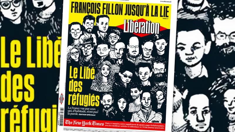 Quand Libé et la pub mettent les migrants à la place des Français