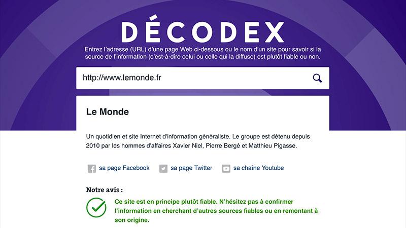 Vidéo : décodons le Décodex