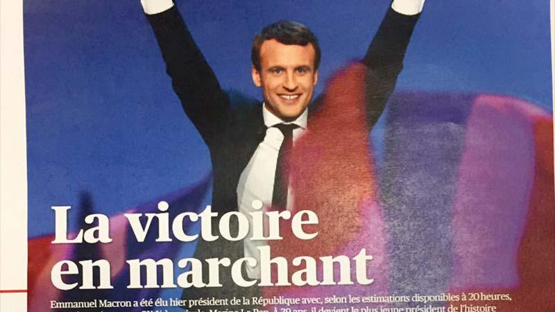 Macron élu : la presse française auxanges!